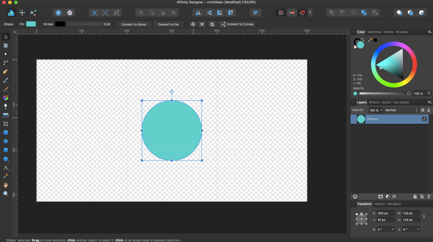 affinity designer duplicating objects circle