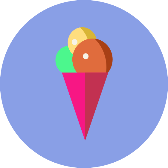 affinity designer ice cream icon with circular background