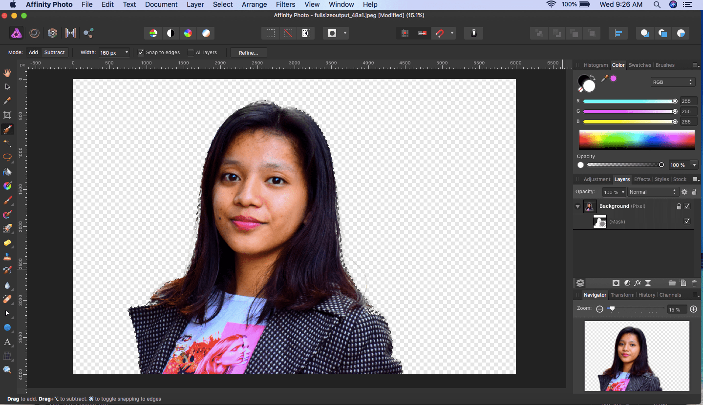 affinity photo mask applied