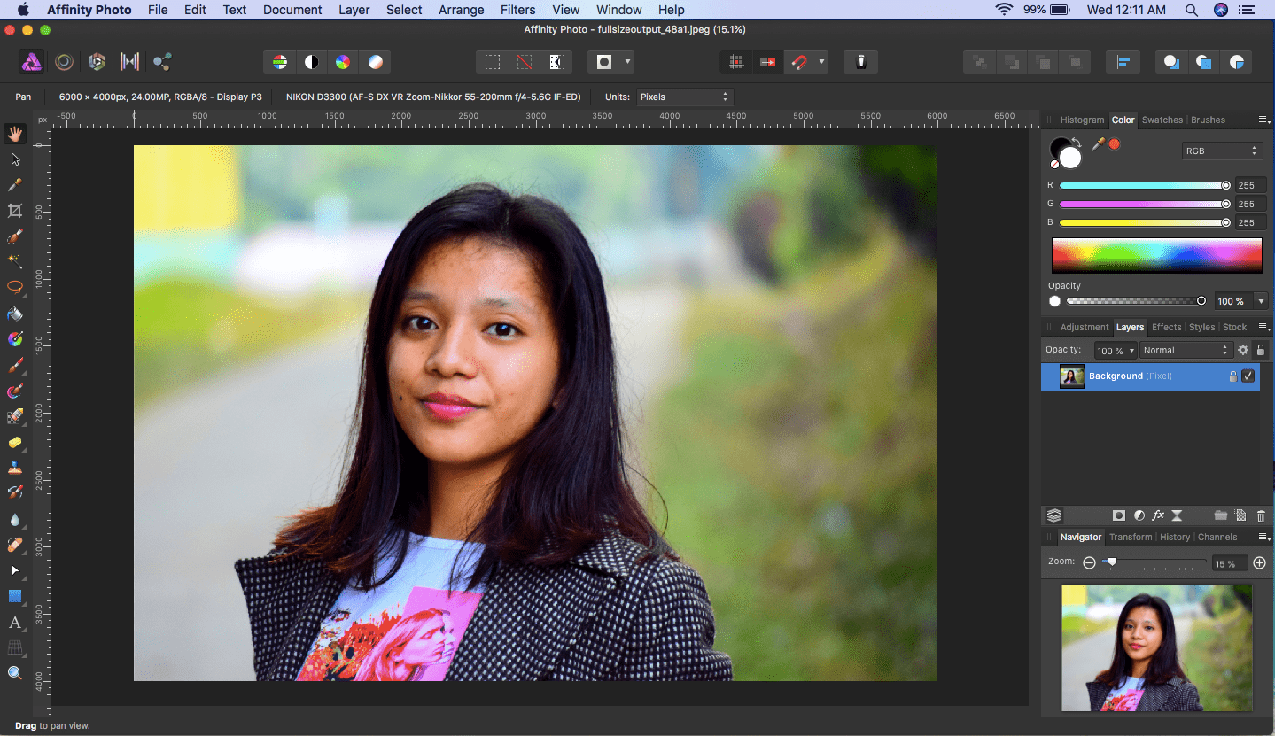 affinity photo object to be cut out
