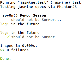 Jasmine Spies: The spyOn() Function