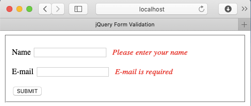 jQuery Form Validation Plugin