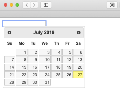 jQuery UI Datepicker (Calendar) Widget