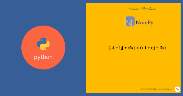 Cross Product of 3D Vectors in Python/NumPy