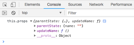 reactjs this.props in console